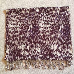 J Crew reptile print scarf, 100% silk, multicolor